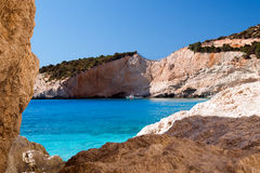 Porto Katsiki beach at Lefkada island Royalty Free Stock Photography