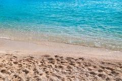 Porto Katsiki beach at Lefkada island Royalty Free Stock Photos