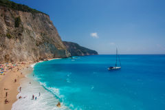 The Porto Katsiki beach (Lefkada) Stock Images
