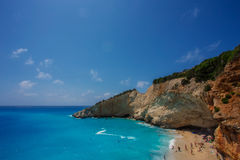The Porto Katsiki beach (Lefkada) Royalty Free Stock Photo