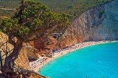 Porto Katsiki beach at Lefkada island Stock Image