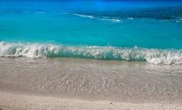 Porto Katsiki beach at Lefkada island Stock Photography