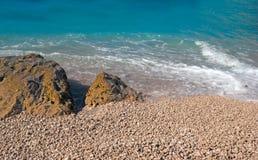 Porto Katsiki beach at Lefkada island Stock Photo