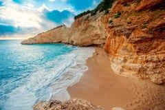 Porto Katsiki beach on Lefkada island Stock Photography