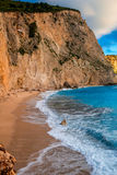 Porto Katsiki beach on Lefkada island Stock Image