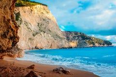 Porto Katsiki beach on Lefkada island Stock Photo