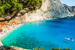 Porto Katsiki beach in Lefkada island, Greece Stock Photography