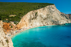 Porto Katsiki beach in Lefkada island, Greece Stock Images