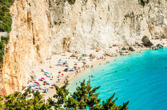 Porto Katsiki beach in Lefkada island, Greece Royalty Free Stock Photography