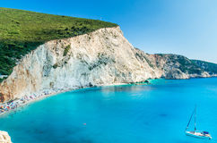 Porto Katsiki beach in Lefkada island, Greece Stock Photos