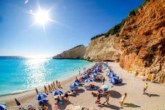 Porto Katsiki Beach in Lefkada Island, Greece. HDR panorama ima royalty free stock photo