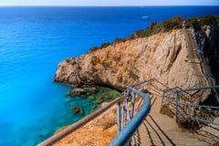 Porto Katsiki beach at Lefkada island Royalty Free Stock Images