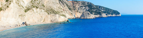 Porto Katsiki beach panorama (Lefkada, Greece) Stock Image