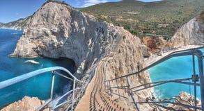 Porto Katsiki beach panorama, Lefkada, Greece stock images