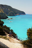 Porto Katsiki beach panorama, Lefkada, Greece Royalty Free Stock Photos