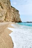 Porto Katsiki beach with a white wave Stock Images