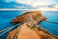 Porto Katsiki coast on Lefkada island Stock Photos