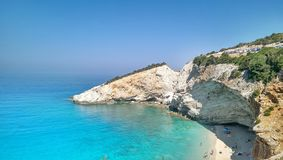 Porto Katsiki. The famous Porto Katsiki beach in Lefkada, Greece Stock Images