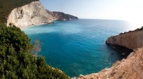 Porto Katsiki golf. Beuatiful beach Porto Katsiki on the west coast of Greek island Lefkada Stock Image