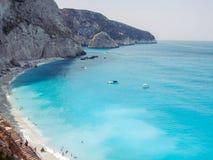 Porto Katsiki Jest plażą Na Ionian morzu Fotografia Stock