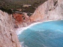 Porto Katsiki Lefkas wyspa Grecja Fotografia Royalty Free