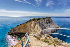 Porto katsiki in leykada Royalty Free Stock Image