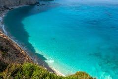 Porto Katsiki plaża przy Lefkada wyspą, Grecja Obraz Royalty Free
