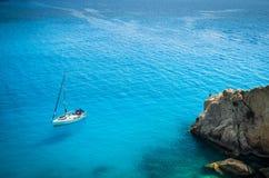 Porto Katsiki plaża w Lefkada wyspie, Grecja Fotografia Royalty Free