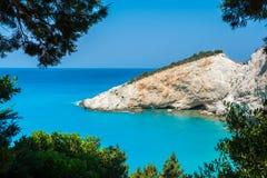 Porto Katsiki strand, Lefkada, Grekland Royaltyfri Bild