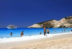 Porto Katsiki strand in Lefkada, Griekenland Royalty-vrije Stock Afbeeldingen