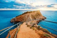 Porto Katsiki wybrzeże na Lefkada wyspie zdjęcia stock