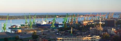 Porto Klaipeda imagem de stock royalty free