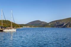 Porto Koufo beach, Chalkidiki, Greece. Porto Koufo beach on Sithonian peninsula, Chalkidiki, Greece royalty free stock photo