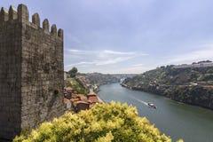 Porto krajobrazu widok nad Douro rzeką Obraz Stock