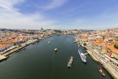 Porto krajobrazu widok nad Douro rzeką Fotografia Royalty Free