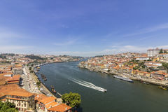 Porto krajobrazu widok nad Douro rzeką Zdjęcie Stock