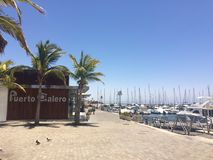 Porto Lanzarote de Puerto Calero imagem de stock royalty free