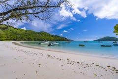 Porto Launay Marine Park, Seychelles fotos de stock royalty free