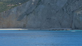 Porto Lefkada Sea Shoreline. Porto Lefkada azure beautiful sea and beach stock video footage