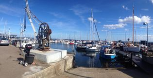 Porto locale in Danimarca Fotografia Stock Libera da Diritti