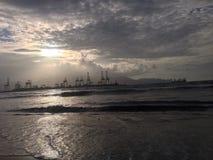 porto logistico della nave Fotografia Stock Libera da Diritti