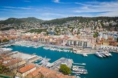 Porto Lympia come visto da Colline du chateau - Nizza, Francia Fotografie Stock Libere da Diritti