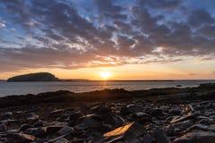 Porto Maine da barra do nascer do sol fotografia de stock
