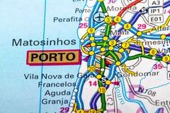 Porto map Stock Photos