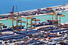 Porto marítimo da carga fotografia de stock