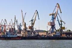 Porto marítimo de comércio Foto de Stock Royalty Free