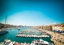 Porto marítimo de Marselha Imagens de Stock