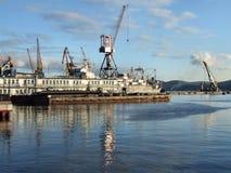Porto marítimo de Murmansk Fotografia de Stock