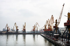 Porto marítimo de Odessa Foto de Stock Royalty Free