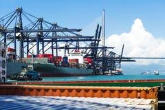 Porto marítimo e guindastes em China Imagem de Stock